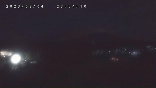 ロマントピア天文台銀河から見た岩木山(4Kネットワークカメラ)